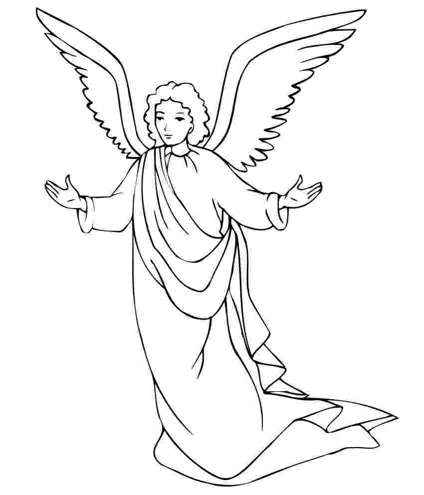 angel pictures to color free printable angel coloring pages for kids to pictures color angel