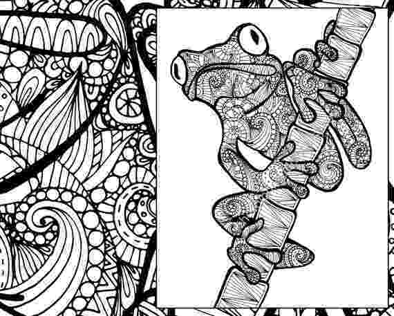 animal coloring book for adults frog coloring sheet animal coloring pdf zentangle adult coloring animal for adults book