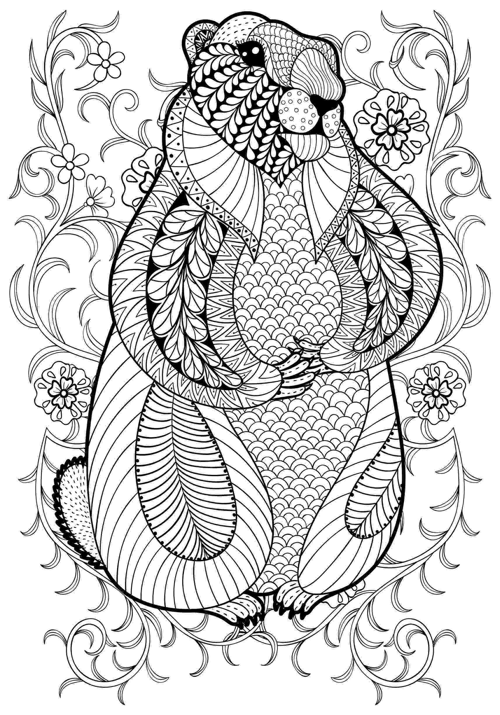animal coloring book for adults pin by beth conroy on color animals adult coloring pages book for coloring animal adults