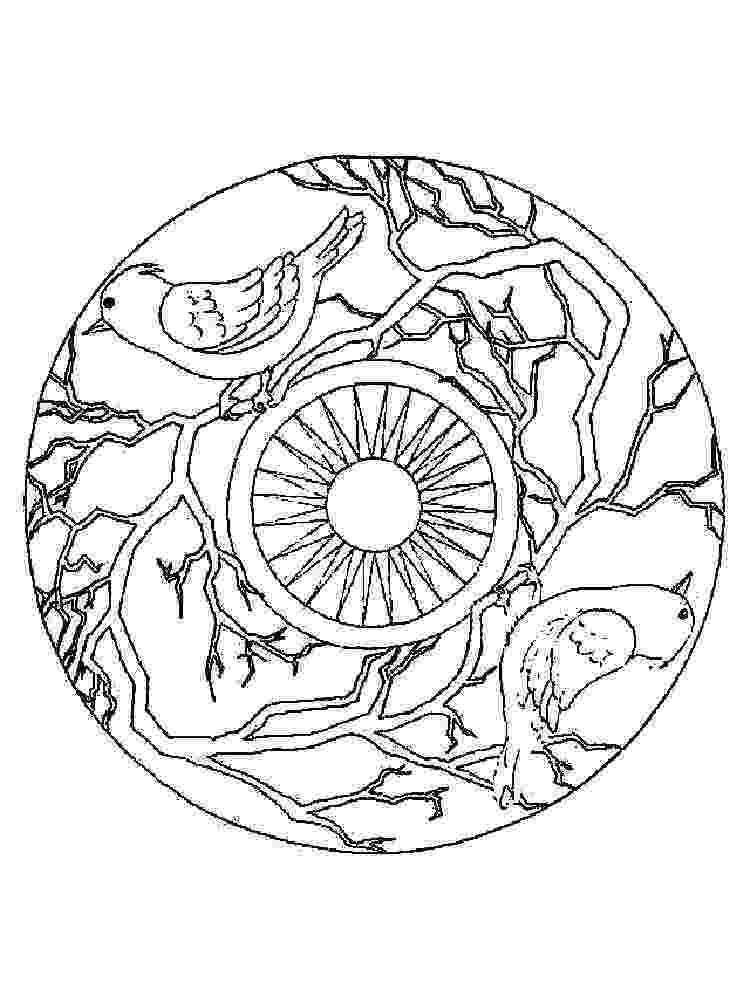 animal mandala eagle mandala coloring page free printable coloring pages mandala animal