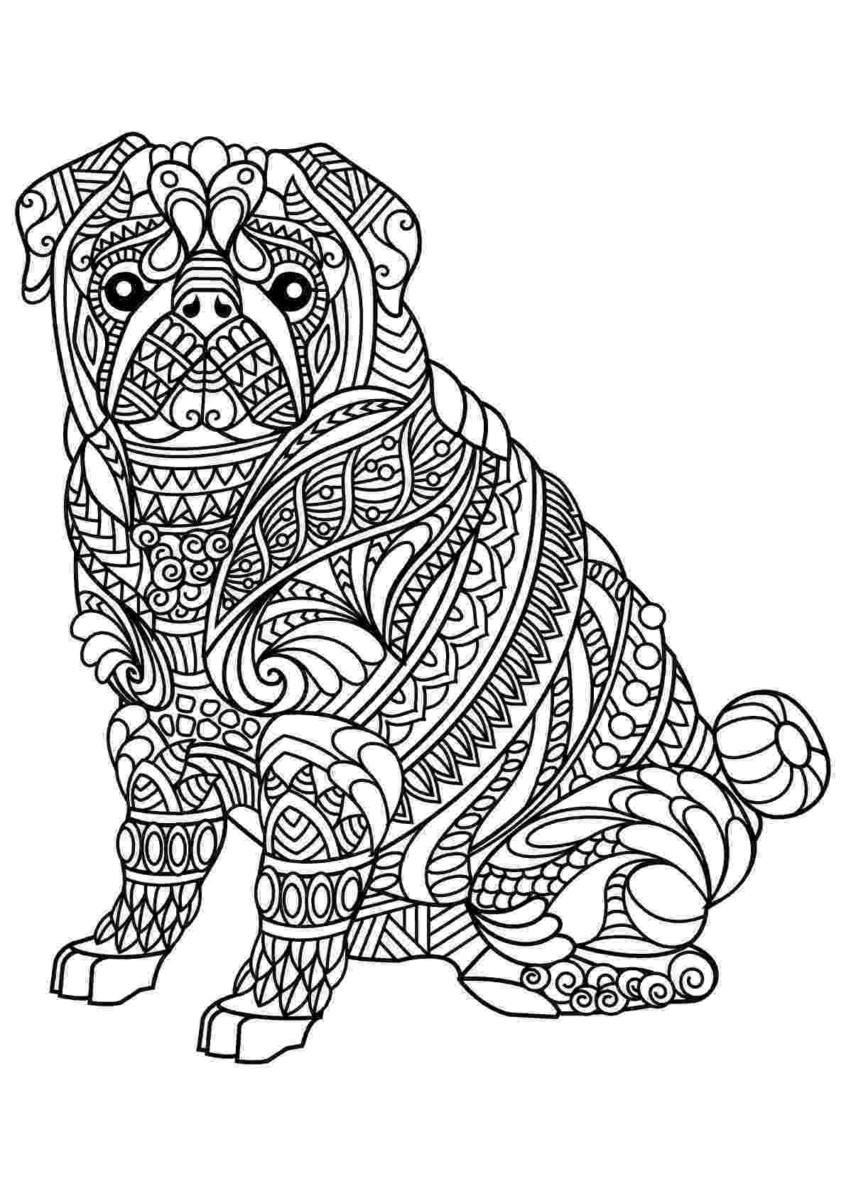 animal patterns colouring pages free book dog bulldog dogs adult coloring pages patterns animal pages colouring