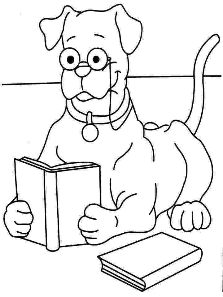 animal reading coloring page children reading books coloring pages page coloring reading animal