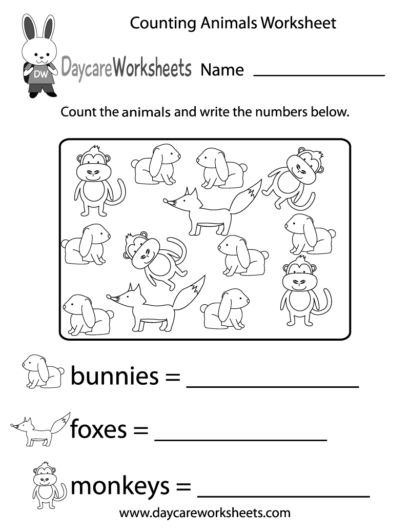 animals coloring worksheets for kindergarten free counting animals worksheet for preschool worksheets kindergarten for animals coloring