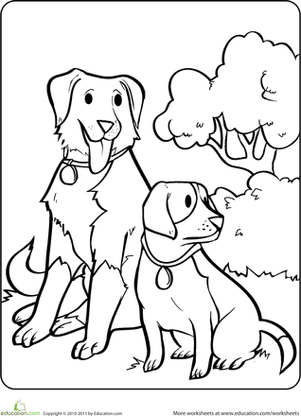animals coloring worksheets for kindergarten sitting dogs coloring page coloring pages for kids dog kindergarten worksheets coloring for animals