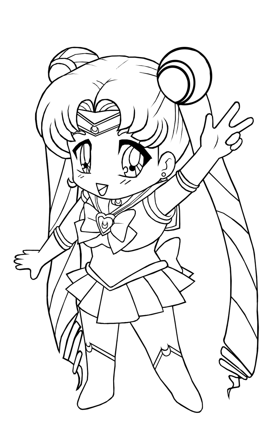 anime chibi coloring pages chibi cookie girl coloring page free printable coloring coloring chibi anime pages