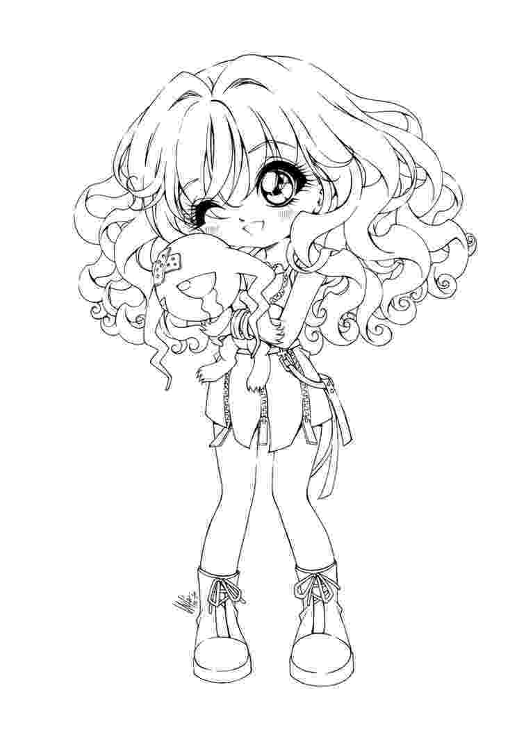 anime chibi coloring pages chibi cotton candy girl coloring page free printable pages anime chibi coloring