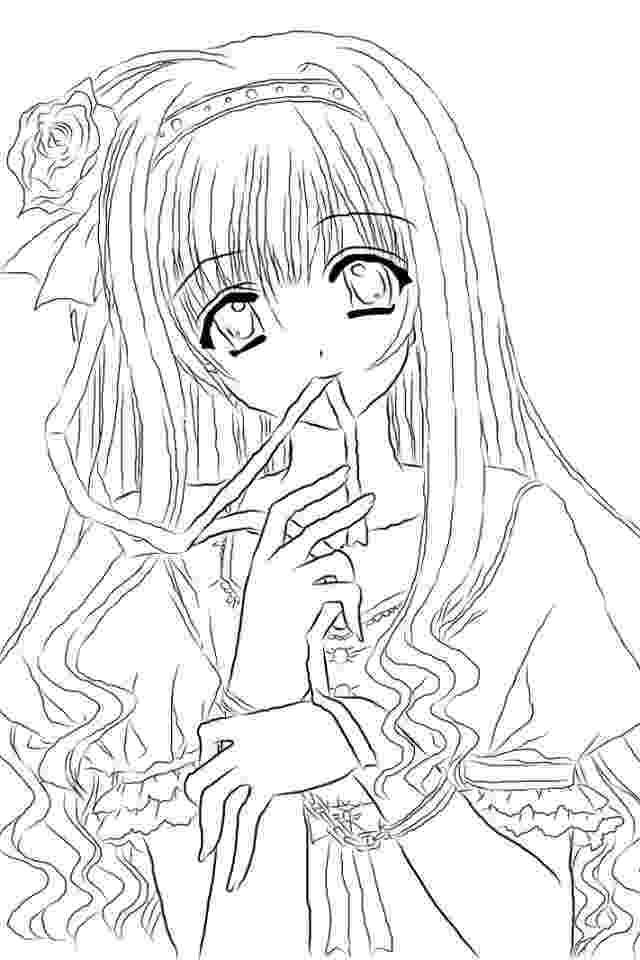 anime coloring pin on coloring anime coloring