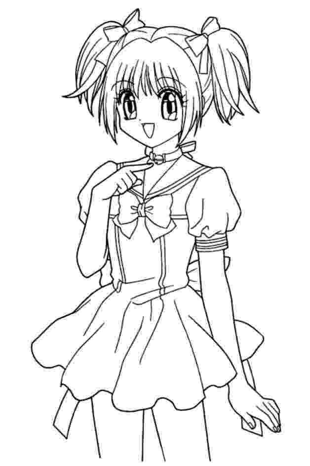 anime colouring cute anime girl coloring pages to print free coloring books anime colouring