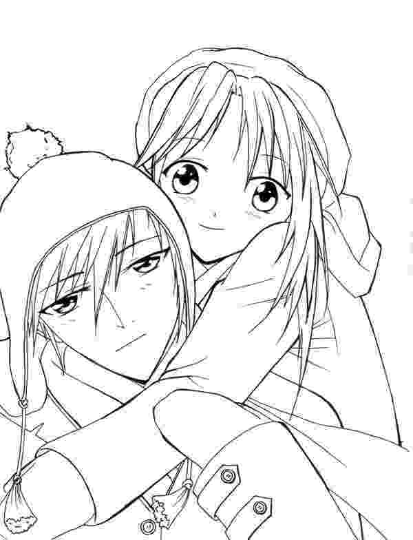 anime couples coloring pages anime valentine coloring pages anime couple printables pages coloring anime couples