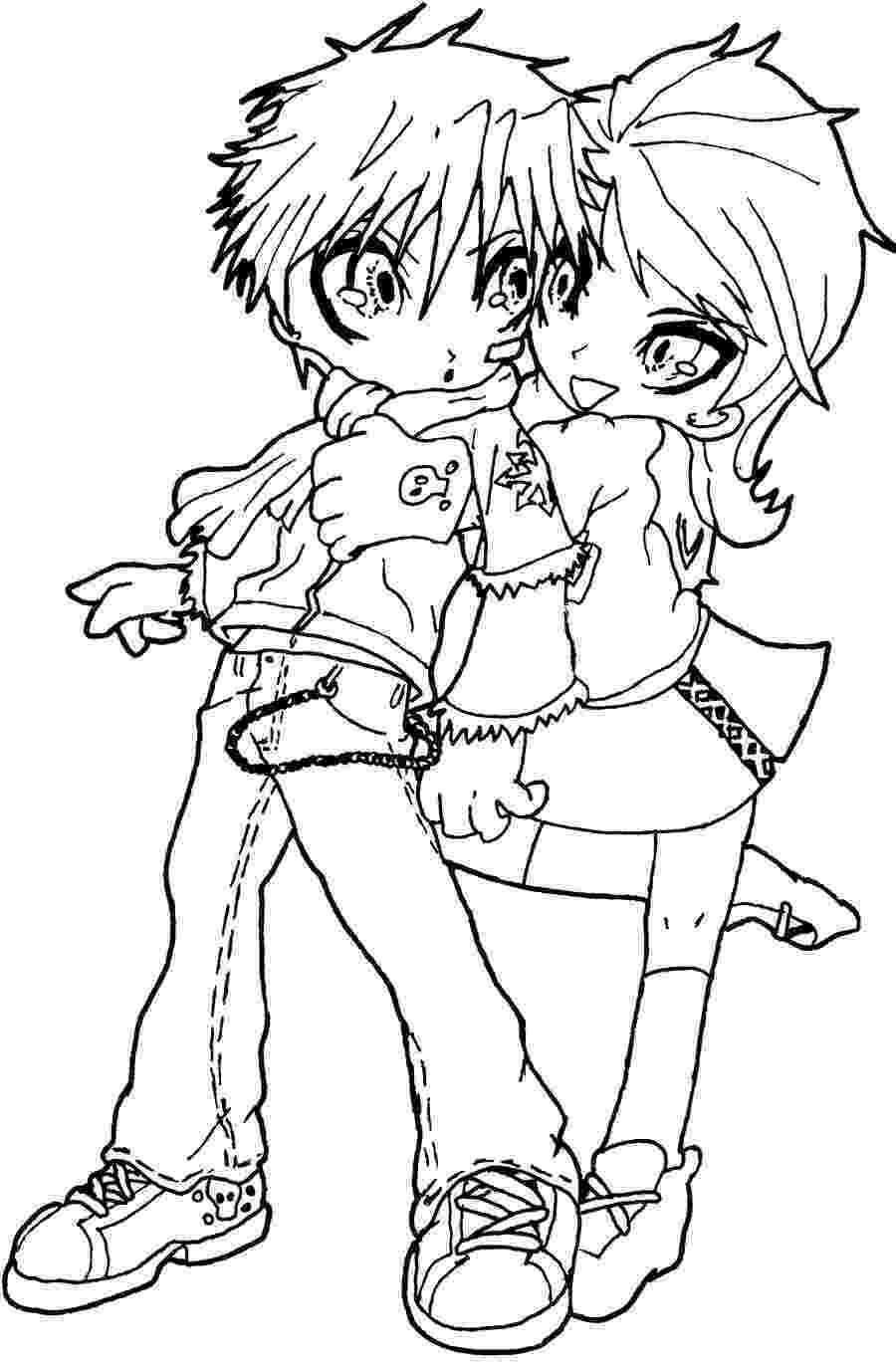 anime couples coloring pages chibi couple lineart version by hamsterbag on deviantart anime coloring couples pages
