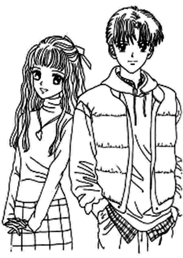 anime couples coloring pages couple picture on japan animation anime coloring page coloring couples anime pages