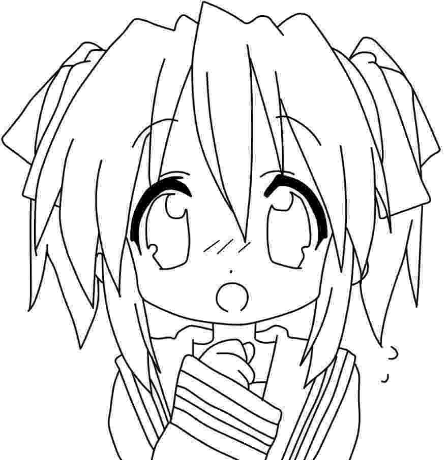 anime pictures to color smiling anime girl coloring page free printable coloring color anime pictures to