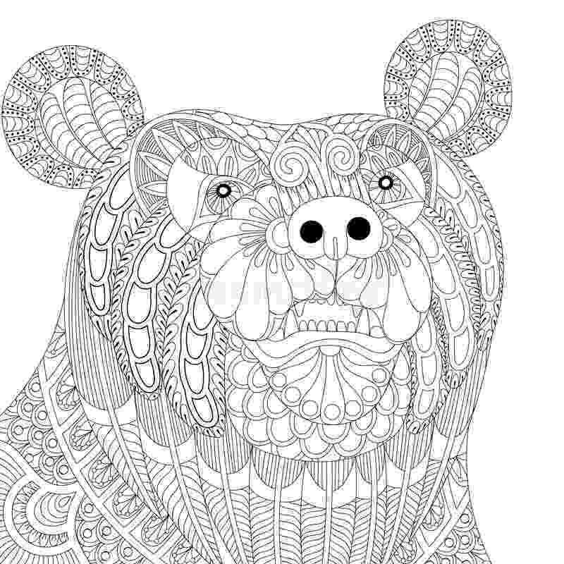 anti stress coloring book animals piggy coloring book for adults vector stock vector image coloring book anti stress animals