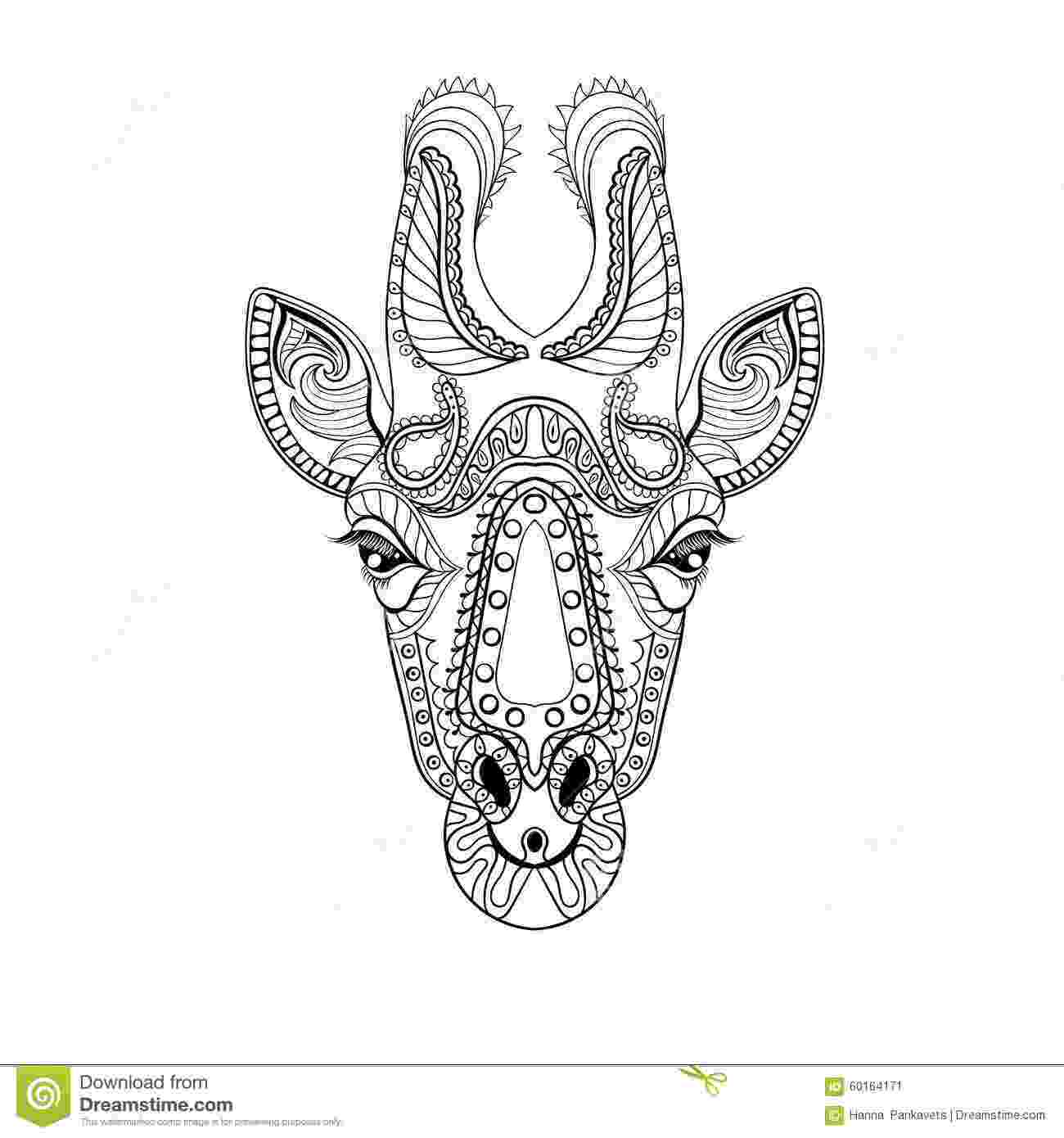 anti stress coloring book animals zentangle giraffe head totem for adult anti stress animals book coloring stress anti