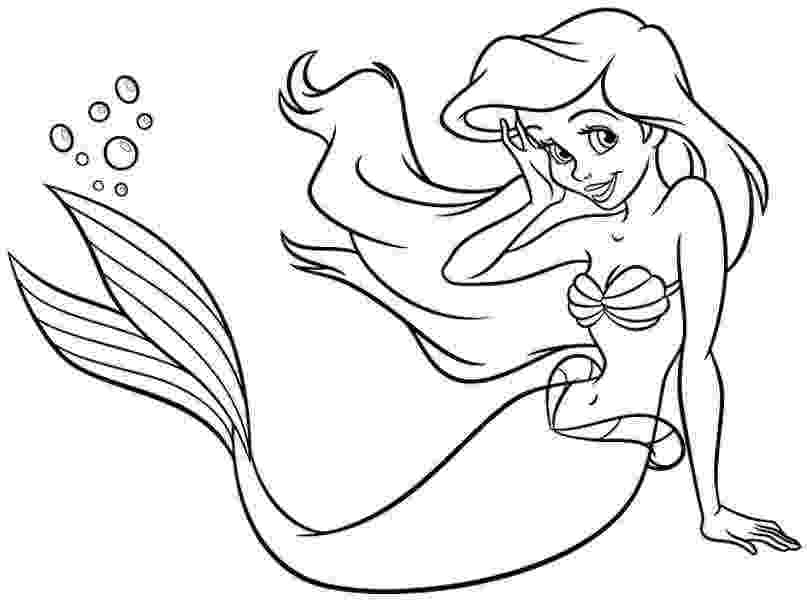 ariel picture to color ariel from the little mermaid coloring page free ariel to color picture