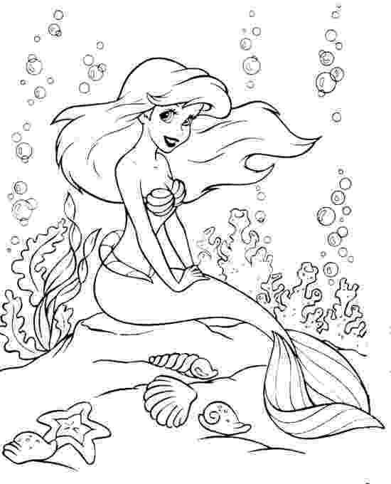 ariel picture to color sebastian and ariel coloring pages for girls printable ariel color picture to