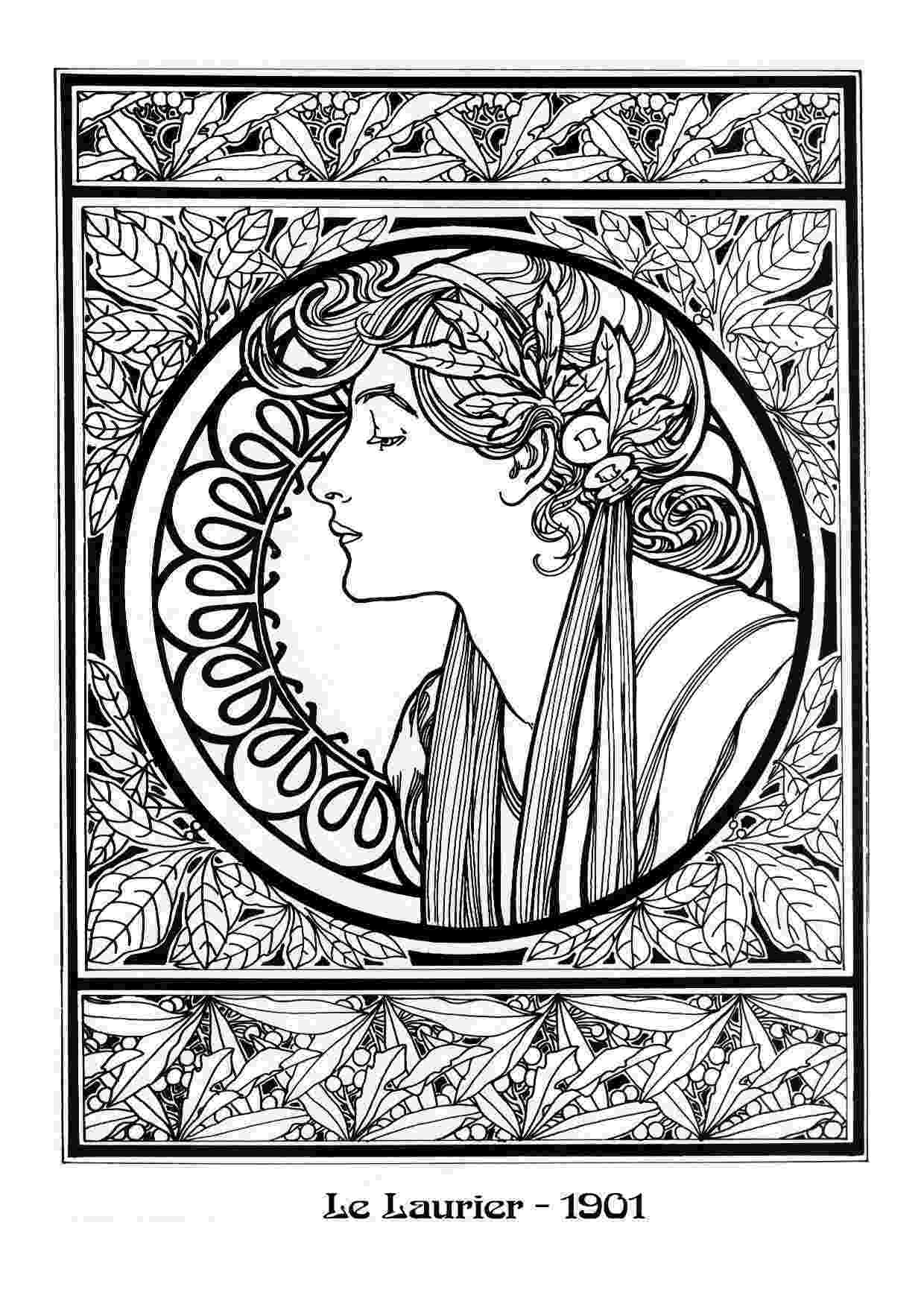 art nouveau coloring book online 17 best images about fun and whimsical coloring pages on online coloring book nouveau art