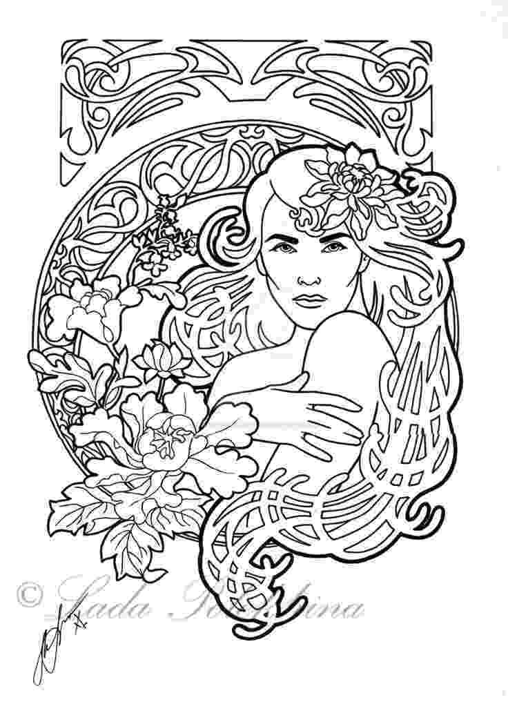 art nouveau coloring book online 190 best images about art nouveau coloring pages on nouveau online book coloring art