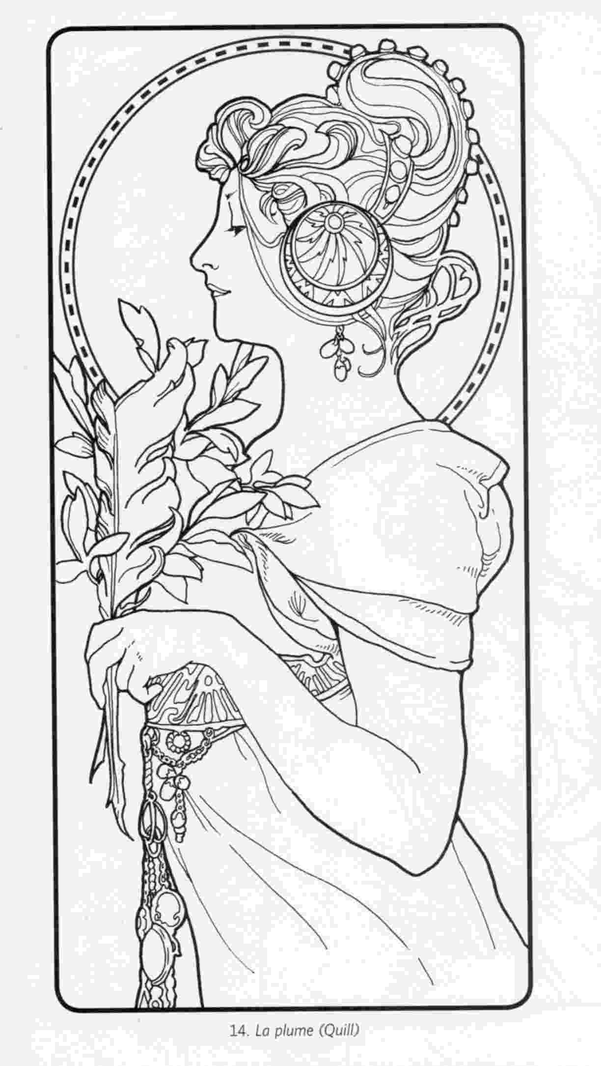 art nouveau coloring book online adult dessin inspiration art nouveau coloring pages printable coloring nouveau book online art