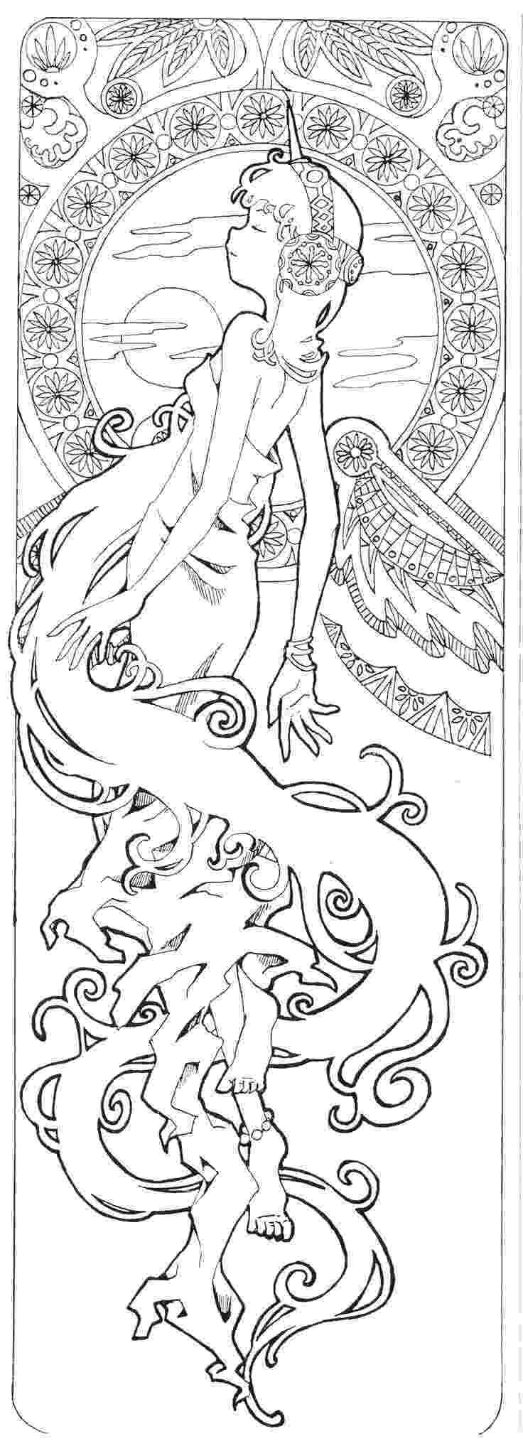 art nouveau coloring book online alphonse mucha coloring book karen alfafara art online nouveau coloring book