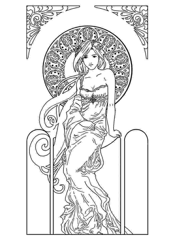 art nouveau coloring book online art nouveau coloring pages to download and print for free online nouveau coloring art book