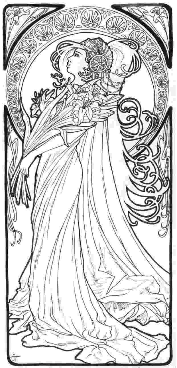 art nouveau coloring book online art nouveau line art google search line art online art coloring nouveau book