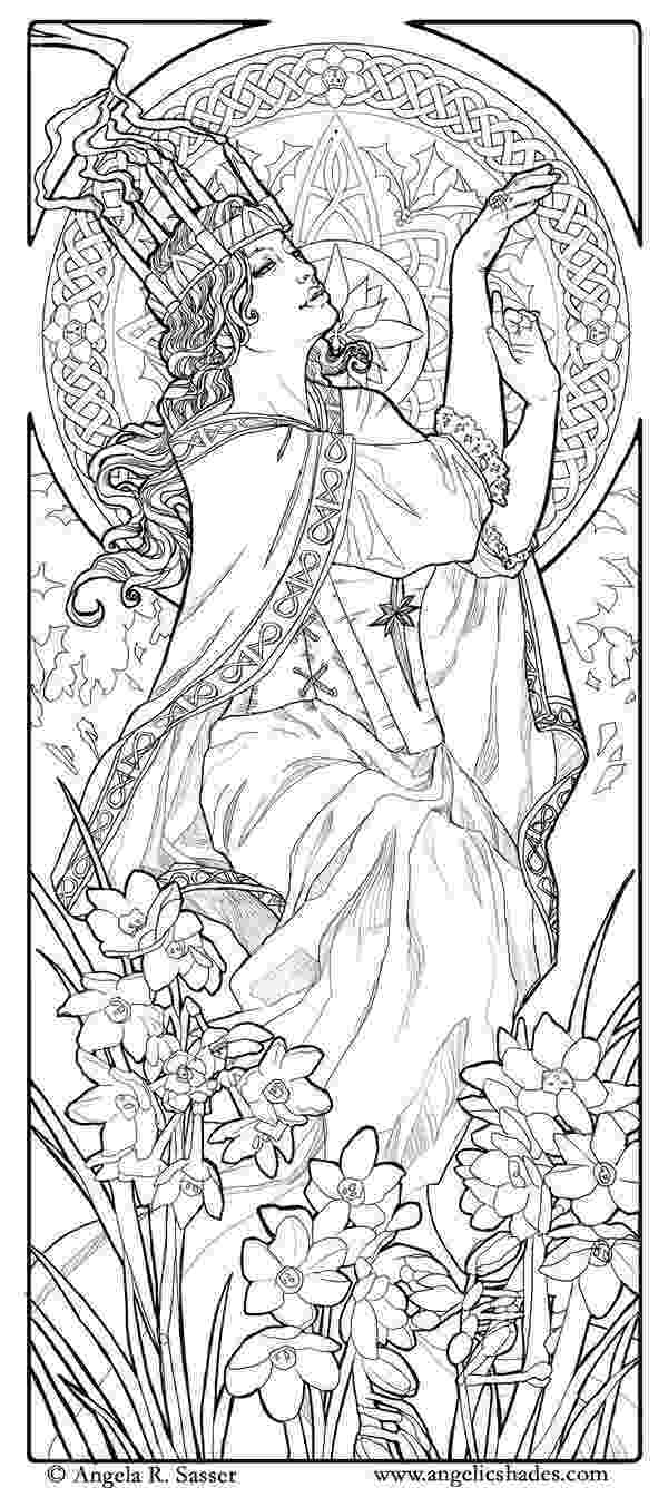 art nouveau coloring book online art nouveau maleficent coloring page free printable online book nouveau coloring art