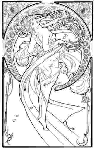 art nouveau coloring book online coloring coloring pages and art nouveau on pinterest art coloring book online nouveau