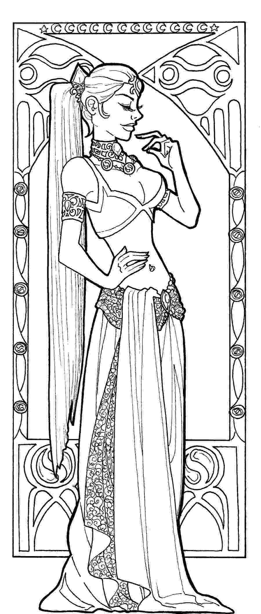 art nouveau coloring book online spring by alfons mucha coloring page free printable online book coloring nouveau art