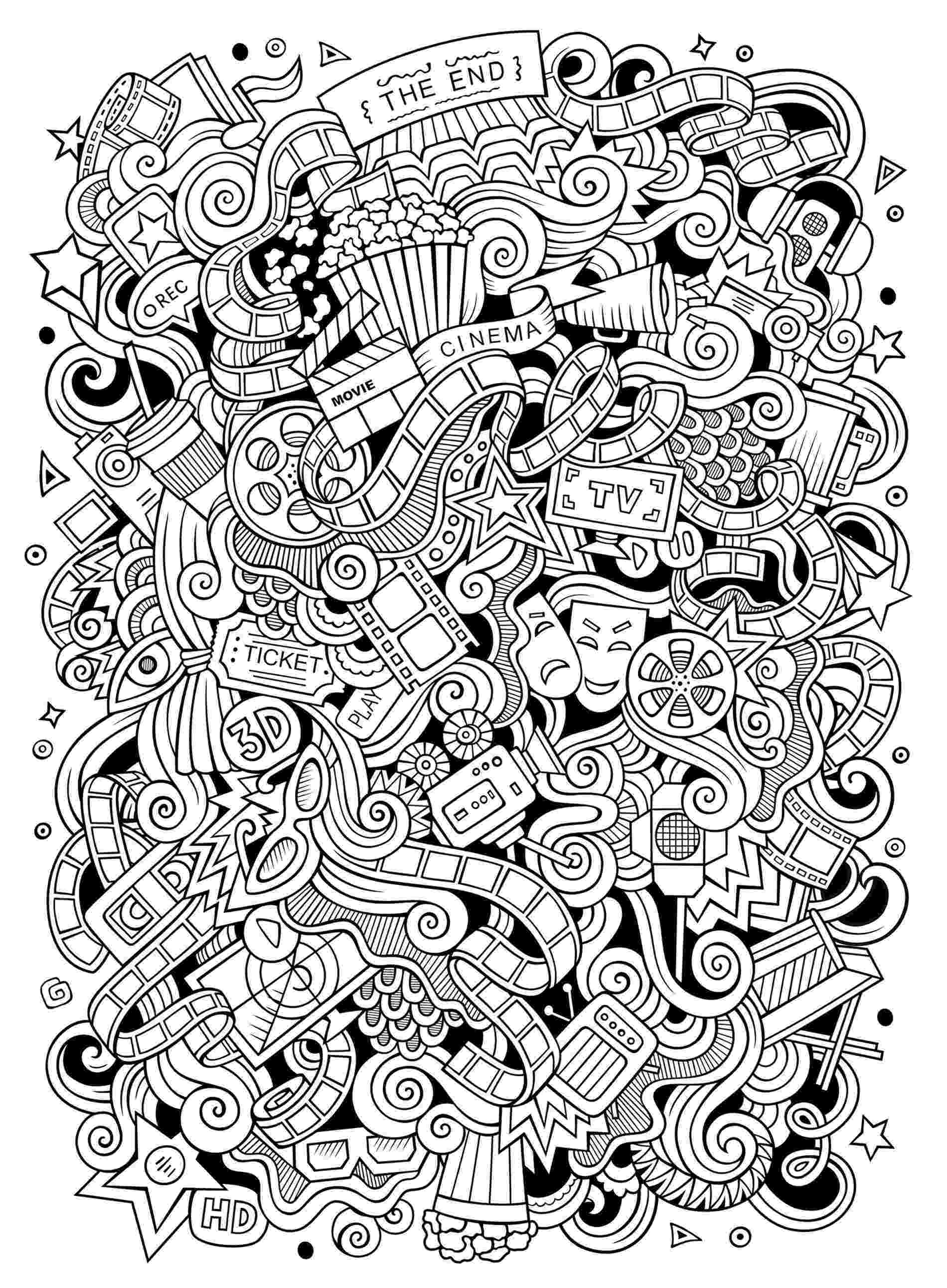 artistic coloring pages doodle art to color for children doodle art kids artistic coloring pages