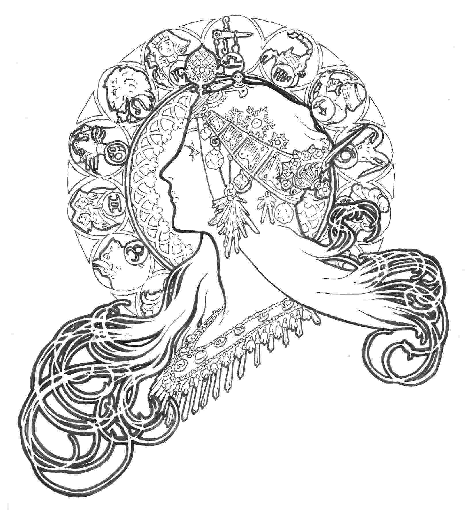 artistic coloring pages inspiration art nouveau art nouveau adult coloring pages pages coloring artistic