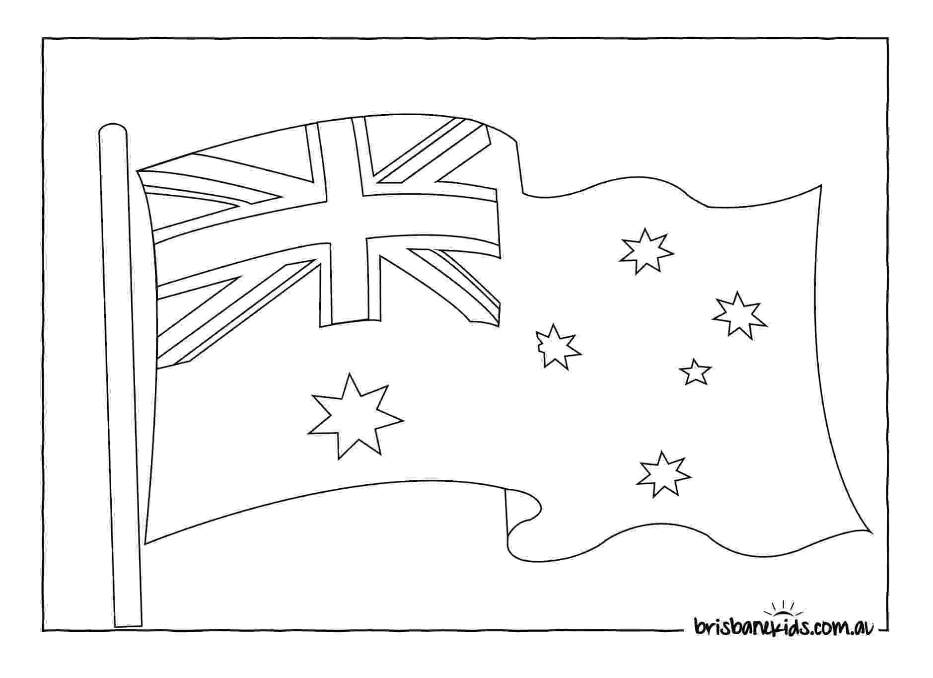 australian flag template to colour australia day colouring pages brisbane kids australian flag colour to template