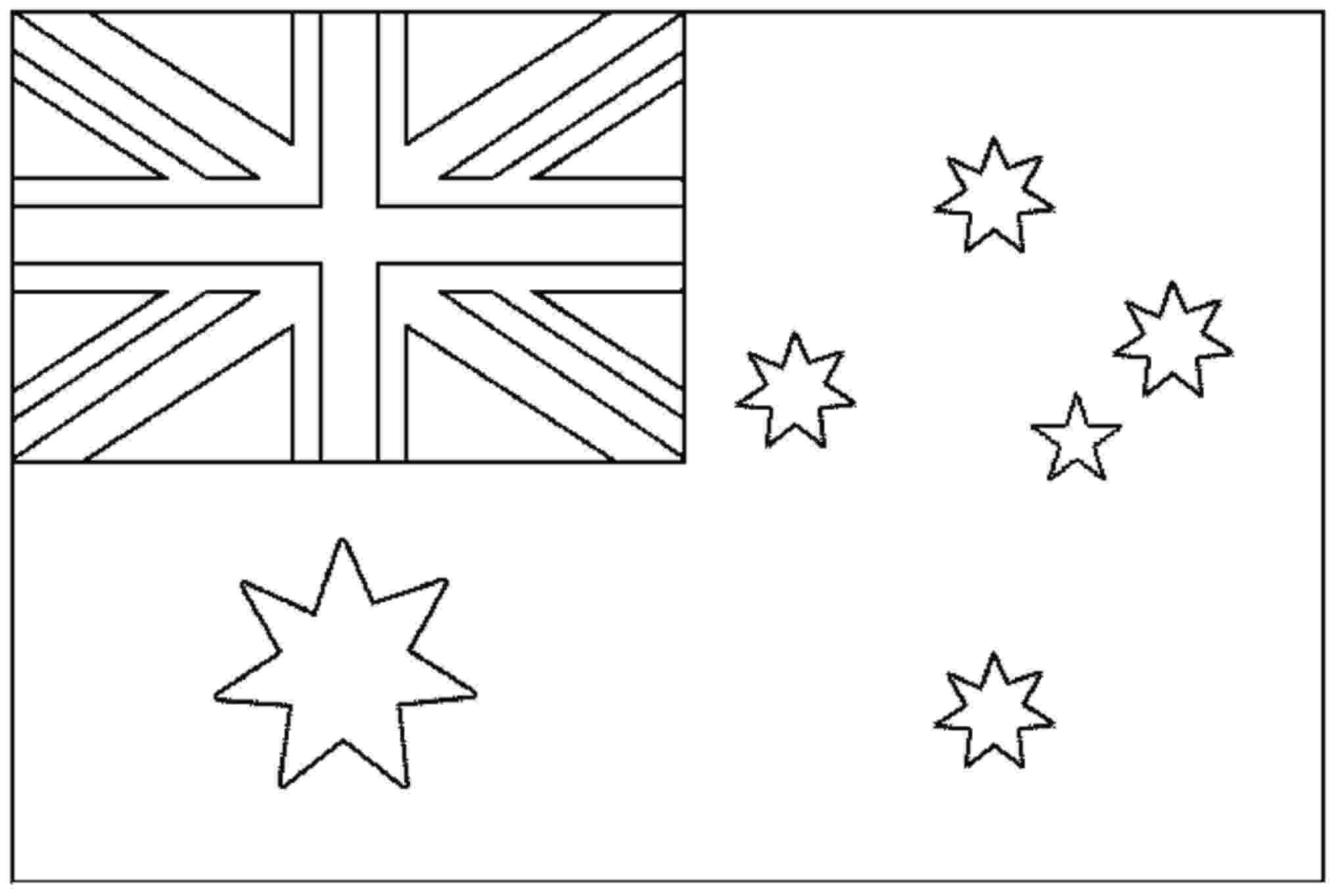 australian flag template to colour flags free to color for kids flags kids coloring pages colour template australian flag to