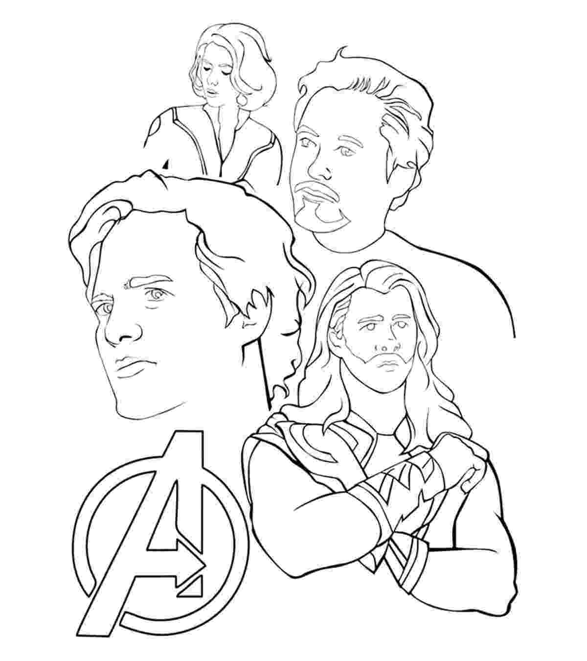 avengers color pages super heros coloring pages momjunction color avengers pages