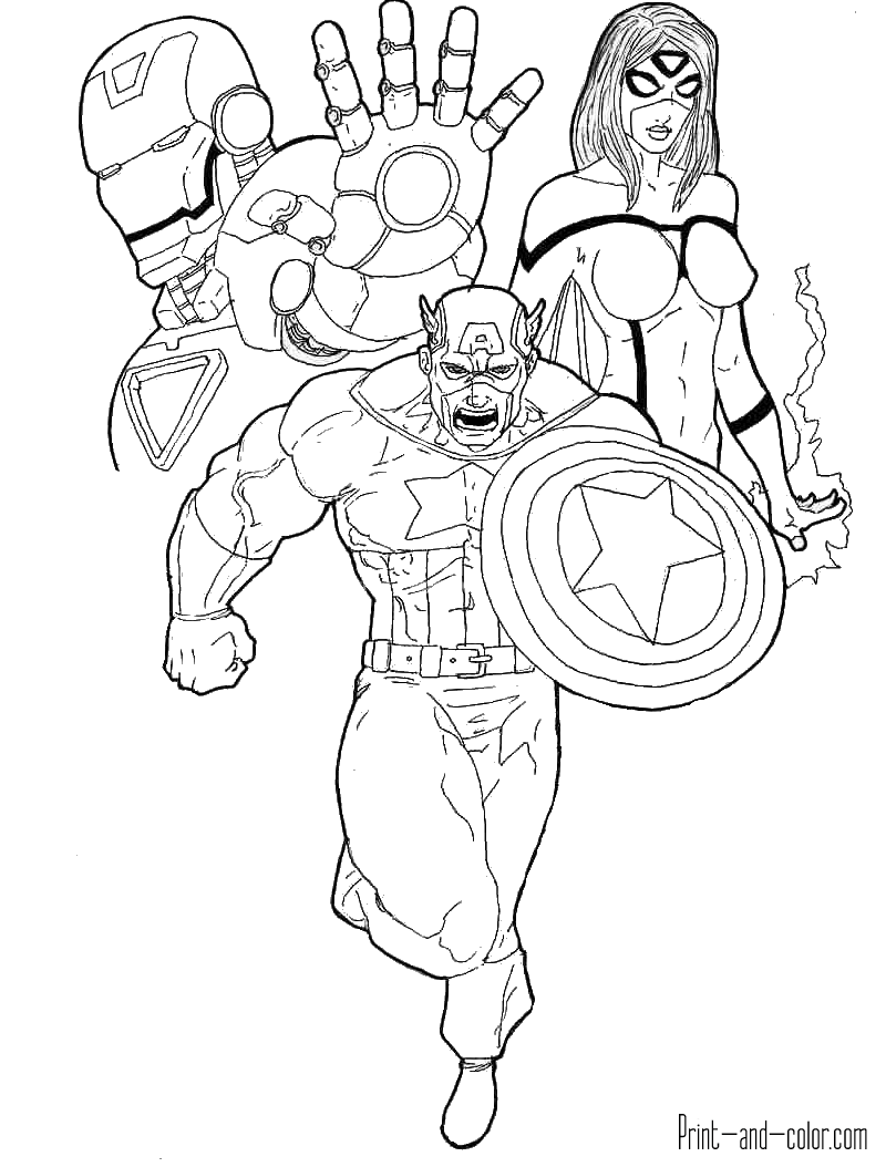 avengers colouring pages avengers coloring pages print and colorcom colouring avengers pages