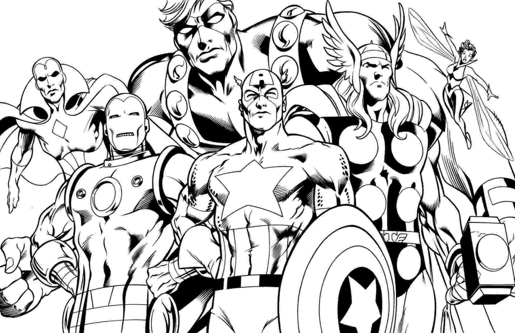 avengers colouring pages avengers thor coloring pages getcoloringpagescom colouring avengers pages