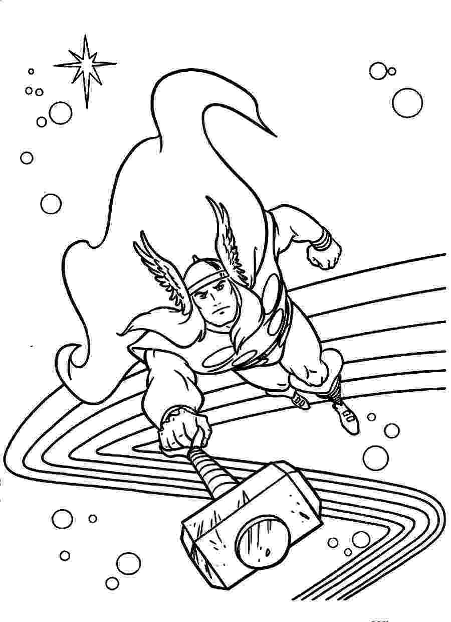 avengers thor colouring pages avengers coloring pages 360coloringpages colouring avengers pages thor