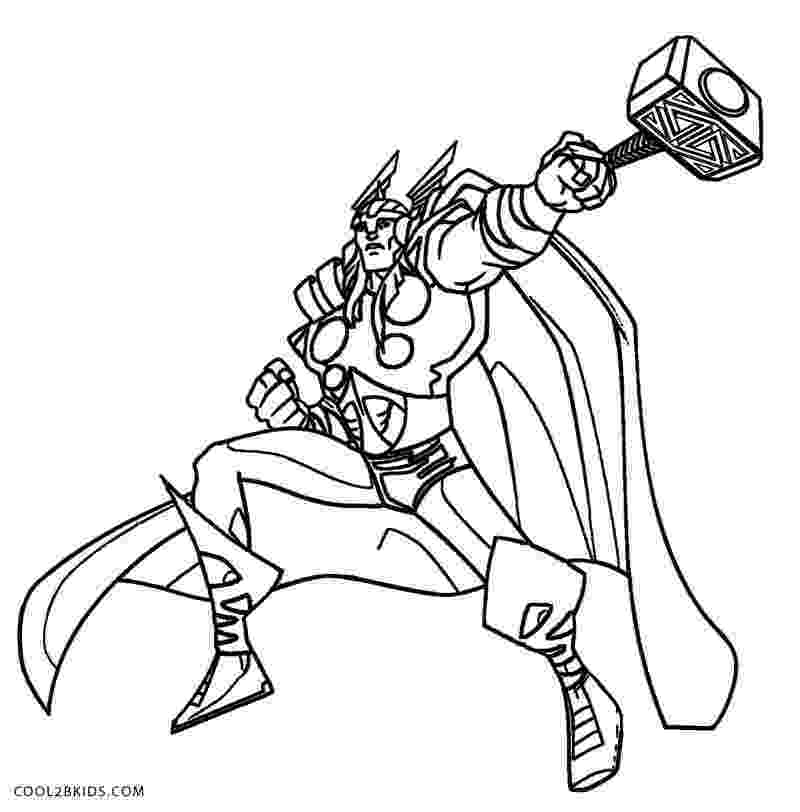 avengers thor colouring pages printable thor coloring pages for kids cool2bkids avengers thor colouring pages