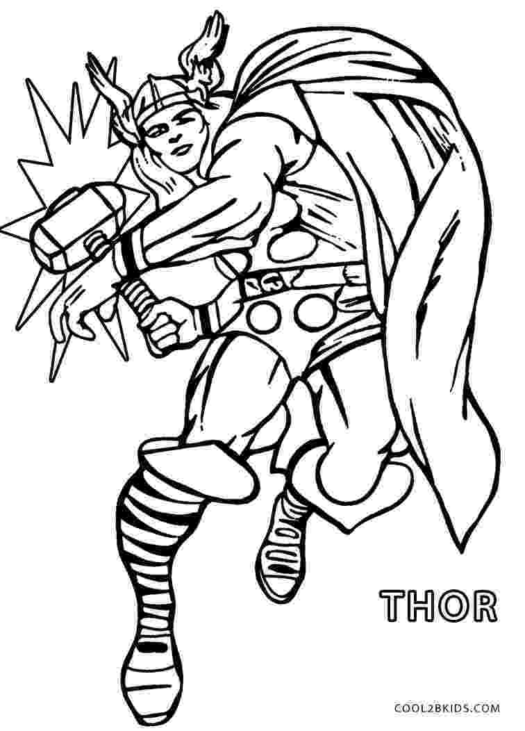 avengers thor colouring pages printable thor coloring pages for kids cool2bkids pages colouring avengers thor