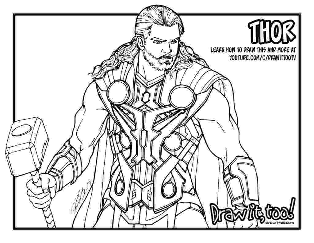 avengers thor colouring pages thor avengers age of ultron draw it too colouring pages avengers thor