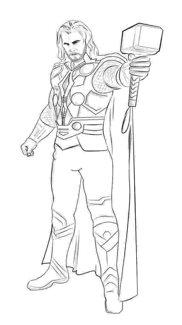 avengers thor colouring pages thor couldn39t really find any good ones of his full body avengers thor pages colouring