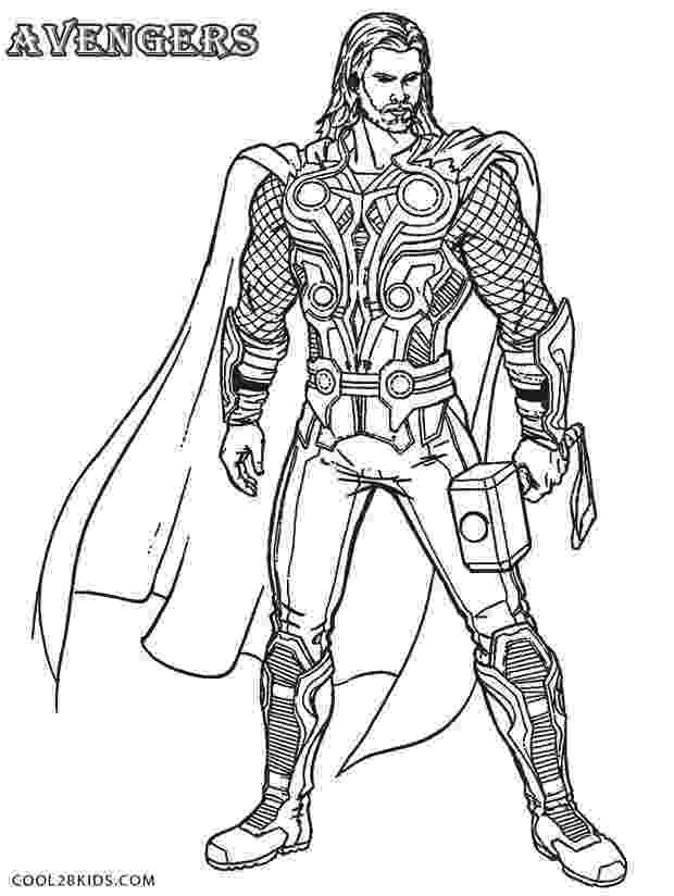avengers thor colouring pages thor from the avengers coloring pages printable avengers thor colouring pages