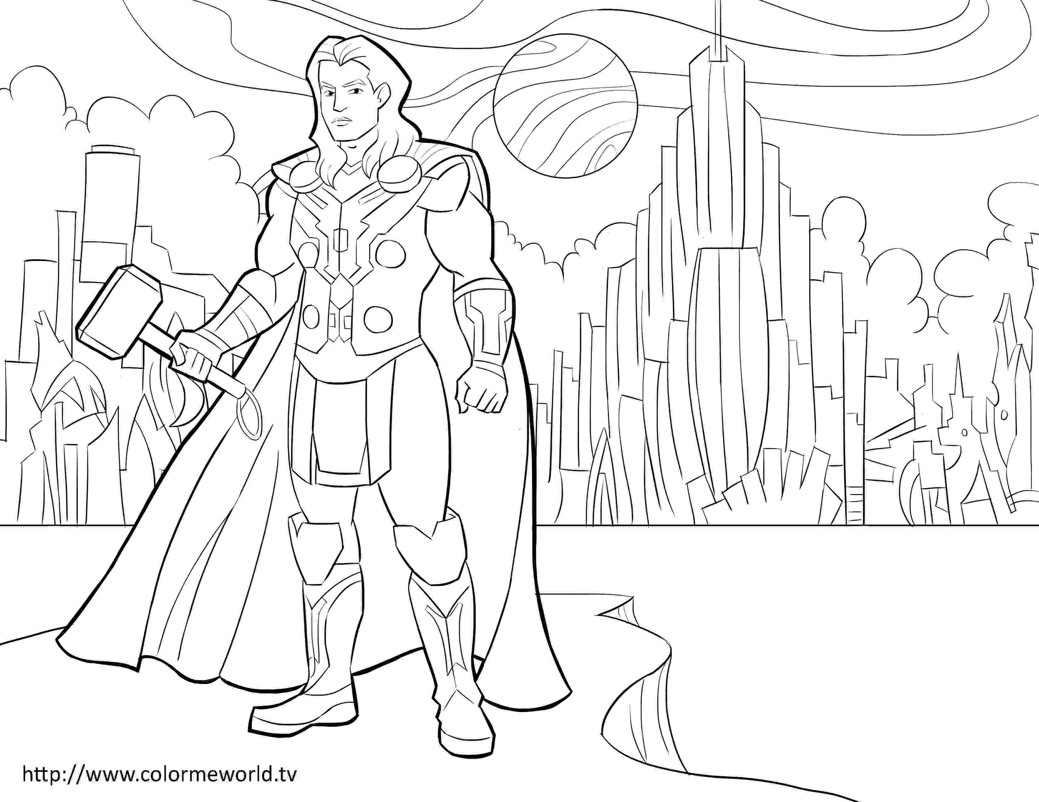 avengers thor colouring pages thor pdf printable coloring page avengers coloring avengers pages colouring thor