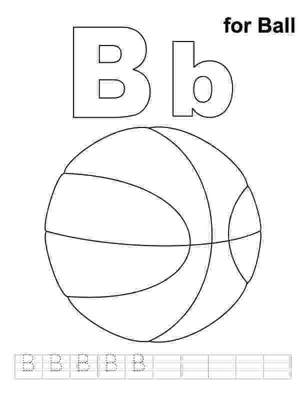 b is for ball coloring page b for ball coloring page with handwriting practice coloring is ball page for b