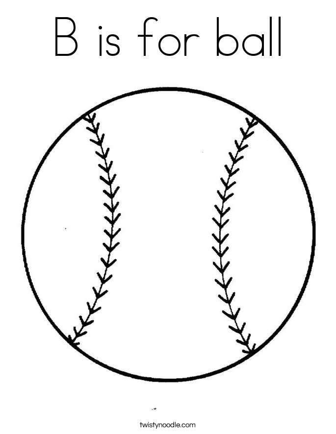 b is for ball coloring page b is for ball coloring page twisty noodle ball is page coloring b for