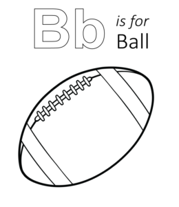 b is for ball coloring page learning letter b in the alphabet playing learning page coloring is for b ball
