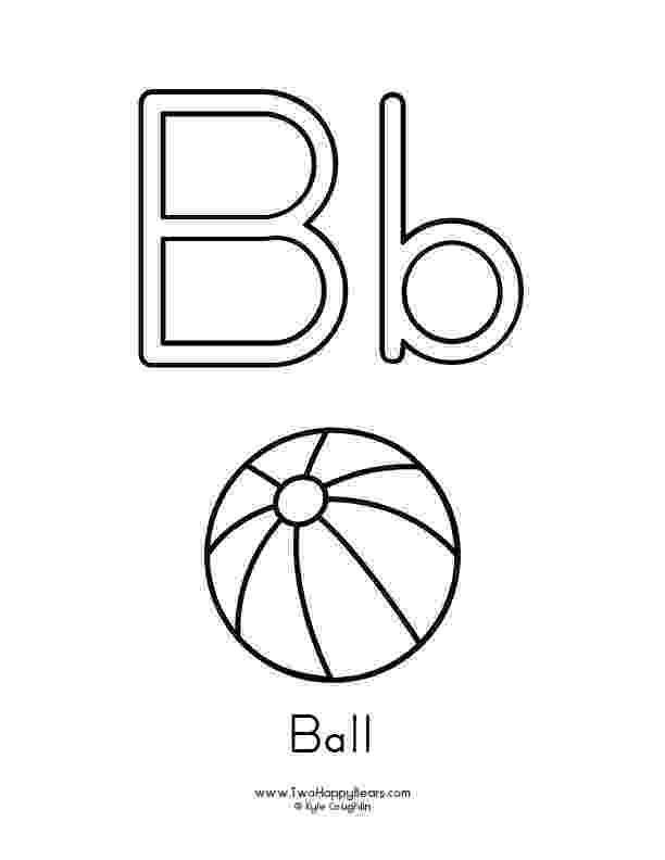 b is for ball coloring page the letter b lesson ball is b for coloring page