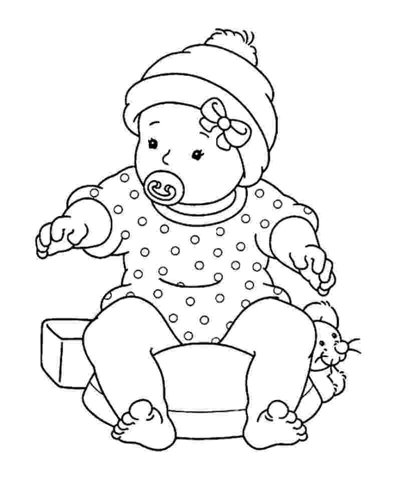 babies coloring pages free printable baby coloring pages for kids coloring babies pages