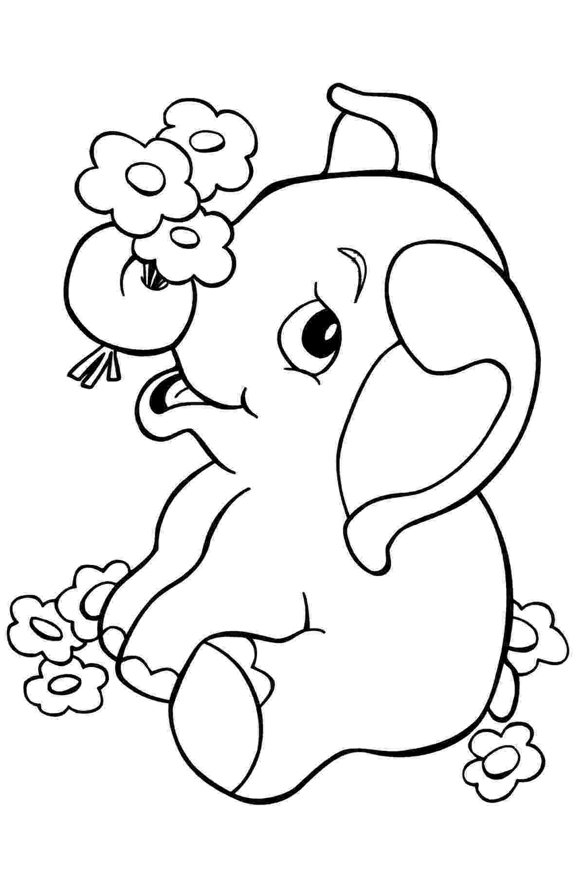 baby animals to color beautiful elephant in the jungle coloring pages baby color animals to