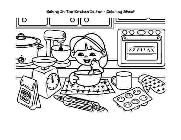 baking coloring pages baking cookies in the kitchen is fun coloring pages best coloring baking pages